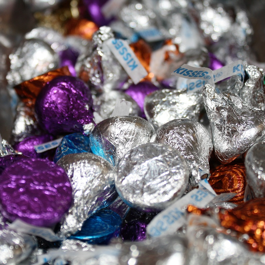 variety of hershey kisses